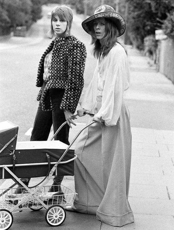David Bowie wearing 'oxford bags'